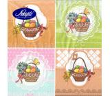 Nekupto Papierové obrúsky 3 vrstvové 33 x 33 cm 20 kusov Veľkonočné Vajíčka v košíkoch