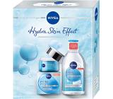 Nivea Hydra Skin Effect denný gélový krém 50 ml + micelárna voda 400 ml, kozmetická sada