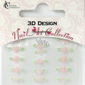 Absolute Cosmetics Nail Art 3D nálepky na nechty 24903 1 aršík