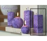 Lima Mramor Levandule vonná svíčka fialová hranol 45 x 120 mm 1 kus
