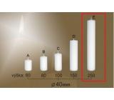 Lima Gastro hladká sviečka biela valec 40 x 250 mm 1 kus