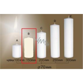 Lima Gastro hladká sviečka slonová kosť valec 70 x 150 mm 1 kus