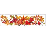 Okenné fólie bez lepidla pruh s jesenným lístím 59 x 15 cm č. 3