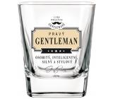 Nekupto Liga Pravých Gentlemanů Whisky sklenička Pravý Gentleman - osobitý, inteligentní, silný a stylový 7 x 7 x 9 cm