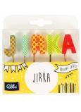 Albi Dortové svíčky jméno - Jirka, 2,5 cm