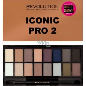 Makeup Revolution Iconic Pre 2 paletka očných tieňov 16 g