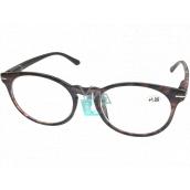 Berkeley Čítacie dioptrické okuliare +1,5 plast fialovohnedý, okrúhle sklá 1 kus MC2171