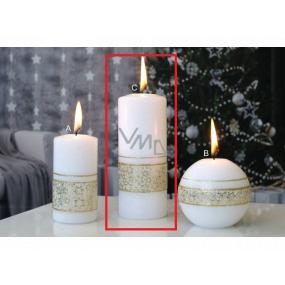 Lima Glitter Star sviečka zlatá valec 60 x 150 mm 1 kus