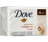 Dove Supreme Cream Oil krémové toaletní mýdlo 4 x 100 g
