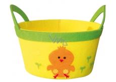 0252d43ad0a ... Košík z filcu žlutý s oranžovým kuřátkem 22 cm