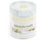 Heart & Home Intenzita touhy Sojová vonná svíčka bez obalu hoří až 15 hodin 53 g