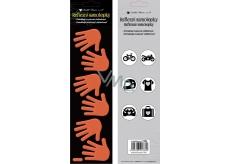 Reflexní samolepky Ruce oranžové 7 x 28,5 cm