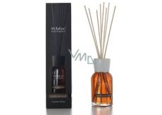 Millefiori Milano Natural Vanilla & Wood - Vanilka a drevo Difuzér 250 ml + 8 stebiel v dĺžke 30 cm do stredne veľkých priestorov vydrží minimálne 3 mesiace