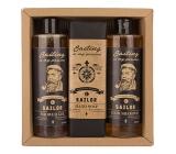 Bohemia Gifts & Cosmetics Sailor sprchový gél 250 ml + šampón na vlasy 250 ml + toaletná mýdlo.145 g, kozmetická sada