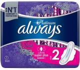 Always Platinum Ultra Super Plus veľkosť 2 hygienické vložky s krídelkami 7 kusov