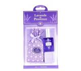 Esprit Provence Levanduľový vonný vrecúško 5 g + toaletná voda pre ženy 12 ml + toaletné mydlo 25 g, darčeková sada