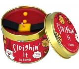 Bomb Cosmetics Sleighin It vonná prírodné, ručne vyrobená sviečka v plechovej dóze horí až 35 hodín