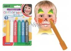 Amos Face Deco Farba na tvár a telo sada 6 farieb
