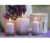 Lima Lavender vonná sviečka svetlo fialová valec 60 x 90 mm 1 kus