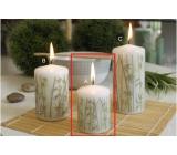 Lima Bambus sviečka biela valec 50 x 70 mm 1 kus