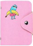 Albi Puzdro na karty so zapínaním na cvoček Leňochod 7,5 x 10,7 x 2,5 cm