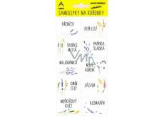 Arch Samolepky na kořenky v blistru květinkové 0141 44 x 32 mm 75 kusů etiket