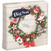 Big Soft Vianočné papierové obrúsky Veniec s ozdobami 33 x 33 cm 2 vrstvové 20 kusov