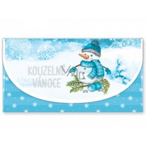 Nekupto Priania obálka na peniaze vianočné Snehuliak 116 x 220 mm