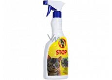 Bio-Enzým Stop Mačka prírodné odpudzovač mačiek na použitie v interiéri aj v exteriéri rozprašovač 500 ml