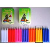 Romantické světlo Vánoční svíčky krabička hoření 90 minut žluté 12 kusů