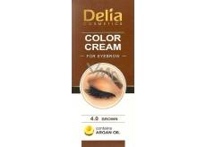 Delia Color Cream farbiace krém na obočie s arganovým olejom 4.0 Brown 15 ml + 15 ml