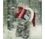 Me to You Blahopřání do obálky 3D Nejkrásnější dárek k Vánocům je 15,5 x 15,5 cm