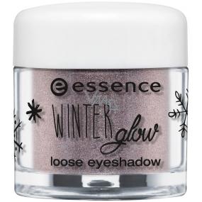 Essence Winter Glow očné tiene 01 Frozen Eyes 1,5 g