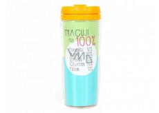 Albi Darčekový termohrnček Pracujem 100% 700 ml