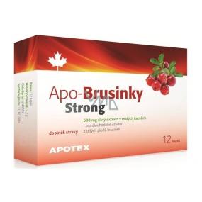 Apotex Apo-Brusnice Strong silný extrakt z celých plodov, doplnok stravy 500 mg 12 kapslí