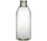 Fľaštička priehľadná, plastová, s uzáverom, priemer 28 mm, 200 ml