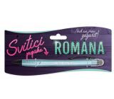 Nekupto Svietiace propiska s menom Romana, ovládač dotykových nástrojov 15 cm