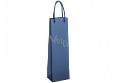 Ditipo Darčeková papierová taška na fľašu 12 x 9 x 39 cm EKO modrá