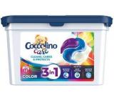 COCCOLINO Care Cleans, Cares & Protects 3v1 kapsule na pranie na farebnú bielizeň 18 dávok 486 g