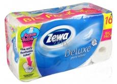 Zewa Deluxe Aqua Tube Delicate Care toaletní papír 3 vrstvý 150 útržků 16 kusů, rolička, kterou můžete spláchnout