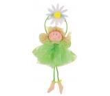 Víla sa zelenou sukienkou na zavesenie č.2 15 cm