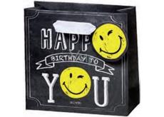 BSB Dárková papírová taška velká 36 x 26 x 14 cm Smiley LDT 377-A4