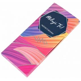 Albi Darčeková mliečna čokoláda Milujem Ťa 50 g 14 x 6 cm