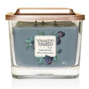 Yankee Candle Dark Berries - Černice sójová vonná sviečka Elevation strednej sklo 3 knôty 347 g