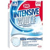 K2r Intensive White unikátní bělící ubrousky působí proti zešednutí prádla a navrátí mu zářivou bílou barvu 20 ubrousků