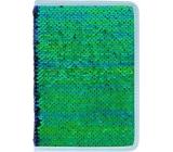 Albi Diár 2020 týždenný flitrový Zelený 19 x 13 x 0,7 cm