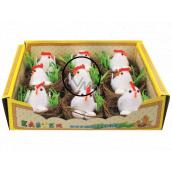 Hniezda s kuriatkom a vajciami 5,5 cm 1 kus