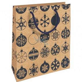 Nekupto Darčeková Kraftová taška 25 x 8 x 19 cm Vianočný modré banky 589 WKHM