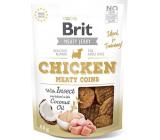 Brit Jerky Sušené masovej maškrty s hmyzom a kuraťom pre dospelých psov 80 g