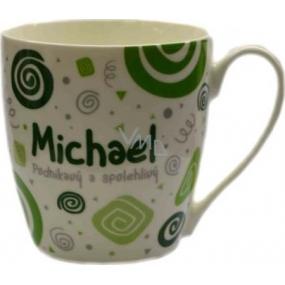 Nekupto Twister hrnek se jménem Michael zelený 0,4 litru